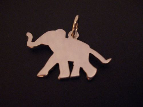 Elephant Baby  pendant sterling silver handmade by saw piercing